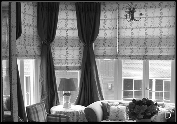 Roman blinds are a perfect way to dim the light in a room.